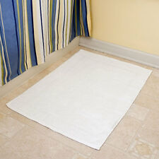 """1-WHITE 20"""" x 30"""" BATHROOM BATH MATS 100% COTTON ( ONE EACH ) 7 LBS GYMS/SPAS"""
