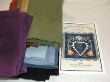 LET YOUR HEART OVERFLOW Wool Applique Wall Hanging Quilt Kit 22x22""