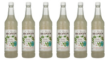 Monin Sirup Weiße Minze, 1,0L PET, 6er Pack