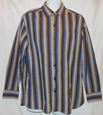 TOMMY BAHAMA GORGEOUS COLORFUL STRIPED L/S DRESS SHIRT. TB7351