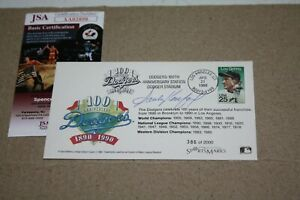 SANDY KOUFAX SIGNED DODGERS COMMEMORATIVE ENVELOPE 100 YEARS 4/21/90 JSA CERT