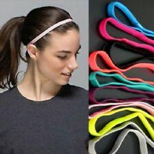 Elastic Thin Yoga Headband Sports Gym Rubber Hair Band Multi Colour Australia