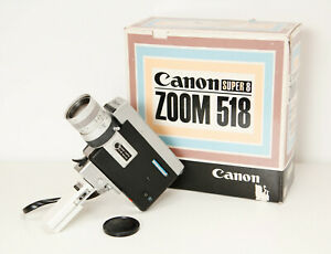 Canon Zoom 518  Super 8 Movie Camera,Tested - Working Great,Original Box,As MINT