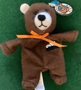 "PLANET PLUSH ""ROCKY"" Colorado 4.5"" Mini Bear by Sally Winey Bean Bag Plush NEW!"