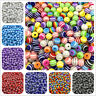 6mm 8mm 10mm Round Spacer Beads Charms Resin Stripe Loose Beads Jewelry Making