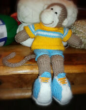 Cheeky Monkey with Removable Shorts & Jumper - Hand Knitted Soft Toy - New