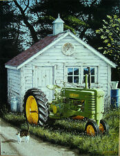 John Deere Johnny Popper Farm Tractor Country Farming Harvest Farmer Metal Sign