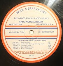 "16"" ARMED FORCES RADIO RECORD - CPT. GLENN MILLER & AAFTC BAND & FREDDIE MARTIN"