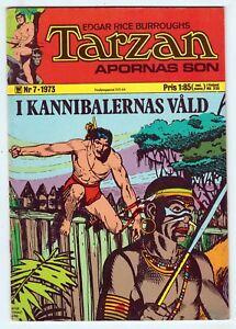 Tarzan Apornas Son #7, EDGAR RICE BURROUGHS, Sweden 1973 FINE  r