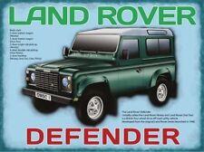 LAND ROVER DEFENDER, CLASSIC ROAD carrozze, 4x4, grande Cartello in metallo,