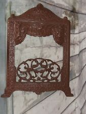 """Antique Cast Iron George M. Clark Chicago """"Jewel""""  Stove/Fireplace Front grate"""