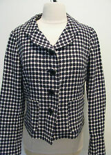 Banana Republic Multicolored Black Dot Cotton / Linen Jacket Lined Size 4