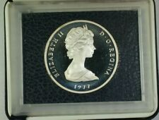 1977 Turks and Caicos Islands 25 Crowns Silver Proof Coin W/ Case+Box & COA