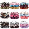 3Pcs Velvet Hair Rope Satin Sequin Cloth Scrunchies Elastic Ponytail Hair Ties.