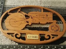 Allis Chalmers WD wood carving