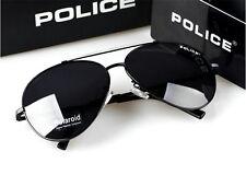NUOVO Stile Uomo OCCHIALI DA SOLE POLICE LENTE occhiali di guida Nero Bianco Frame 8585