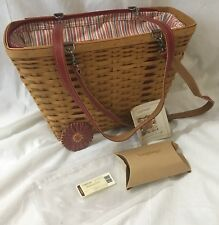 Longaberger 2004 Mother's Day Weekend Tote Combo Basket Purse SIGNED Gary & Lynn