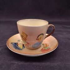 Antique Royal Doulton Dickens Cup & Saucer Mr Pickwick Sam Weller The Fat Boy