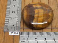 Galet / pierre plate en OEIL DE TIGRE naturelle qualité sup 26g superbes reflets