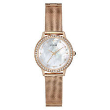 NEW GUESS WATCH for Women * MOP Dial * Rose Gold Tone Mesh Bracelet * W0647L2