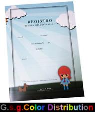 REGISTRO SCOLASTICO PER LA SCUOLA INFANZIA 52 PAGINE + COPERTINA