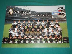 JUVENTUS F.C. foto cartolina poster ufficiale 30x42 cm rosa campionato 2000/2001