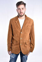 VINTAGE Suede Leather Jacket Giacca Classica Pelle Scamosciata TG XL Uomo Man