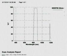 Optical Filter 850WB80 25 mm Bandpass NOS Sputtered Laser/LED IR Fluore 80% T