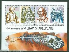 GUINEA BISSAU  2014 450th MEMORIAL ANNIVERSARY OF  WILLIAM SHAKESPEARE SHEET NH