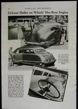 Stout Scarab 1936 *Deluxe Bullet on Wheels* vintage original pictorial
