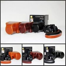 Leather Camera case bag Cover For Nikon Coolpix P530 P520 P510