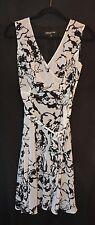 Jones New York Women's Dress Abstract Elegant Black White Sleeveless Size 4 NWT