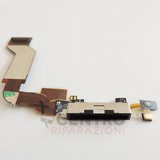 DOCK RICARICA NERO APPLE IPHONE 4S 4 S FLAT FLEX CABLE CONNETTORE USB MICROFONO