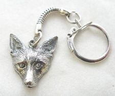 Fox Lovers Key-ring, keychain in Fine English Pewter, Handmade (wa), Keyring