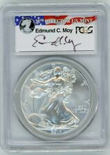 2014-(W) $1 Silver Eagle Struck at West Point MS70 PCGS Ed Moy