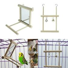 New listing Set of 2 Pet Bird Wood Play Perch Toy Fun Play Great for Small Birds Parrot