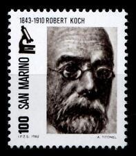 NP-Träger Bakteriologe Robert Koch. 1W. San Marino 1982