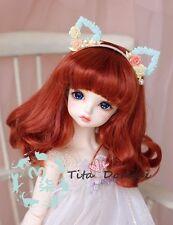 1 6 6-7 Dal BJD YOSD Wig LUTS Dollfie Doll wigs RED barbie 15-17CM