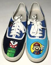 Super Mario Bros custom painted Women's shoes Mossimo Size 6