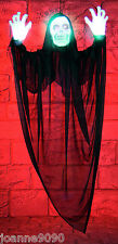 LIGHT UP HALLOWEEN HANGING HORROR SONIC GRIM REAPER SKELETON GHOUL WITH SOUND BN