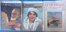Lotto 2 Romanzo Mensile1931 N.11-12+Le Vie D'Italia 1927 N.6