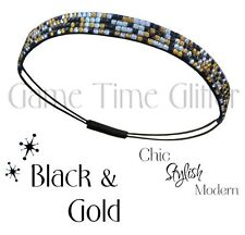 New Orleans Saints Team Color Womens Rhinestone Bling Headband Wear w/ Jersey