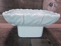 Gilner Art Pottery California Leaf Planter Dish Vase Square Light Blue MCM Vtg