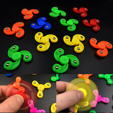 Kids Mini Fan Leaf Fidget Hand Tri Spinner Finger Gyro Desk EDC Focus Stress Toy