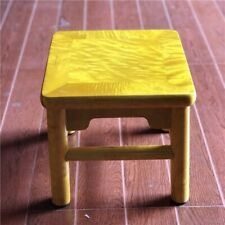 Small Square stool Silkwood Golden Phoebe Wood Gold thread Nan JinSiNan金絲楠木#1181