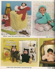 Tissue Box Cover Pattern Craft Books: #1208 Crochet Dolls 'N Delights Crocheting