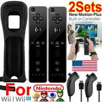 Handheld Nunchuck Controller Built in Motion Plus Remote Nintendo For Nintendo