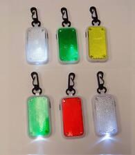 Lot of 36 Pieces - Safety Led Flashlight Keychains with Reflective Strobe Li36