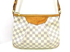 Auth LOUIS VUITTON Damier Siracusa PM N41113 Azur Shoulder Bag MI5110
