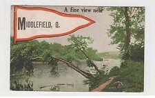 Vintage Postcard Middlefield, Ohio A FINE VIEW NEAR MIDDLEFIELD, OHIO ~ Used